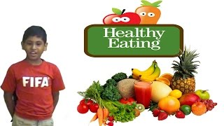 Our student speaks on healthy eating and what things are important for health like nutrients, vitamins, minerals protein etc. he says that all of us ...