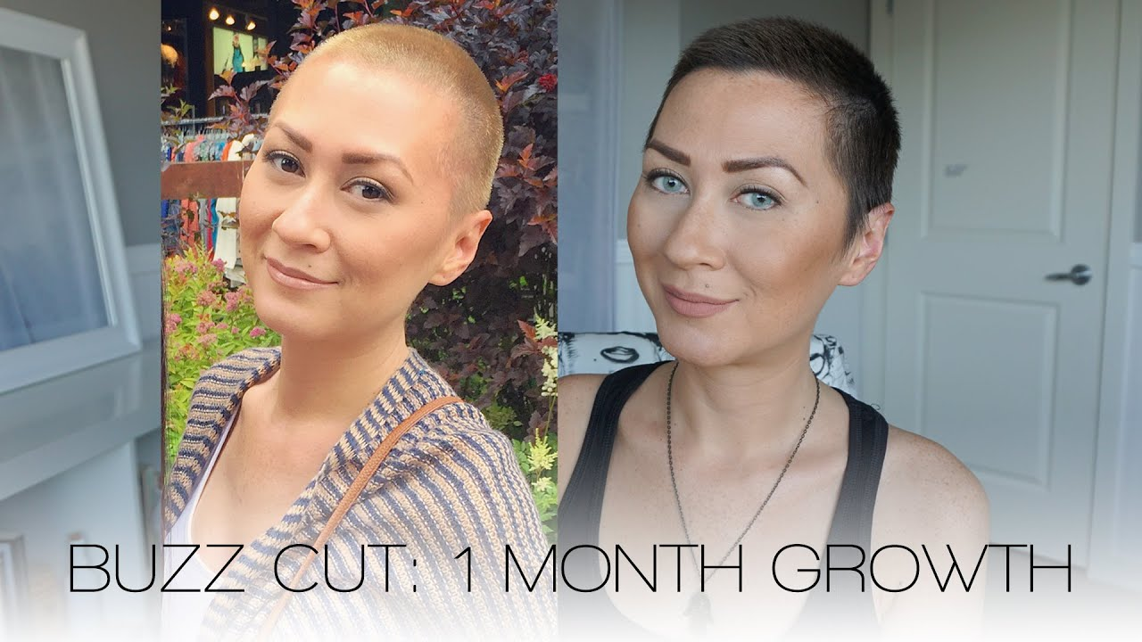 how to grow a box haircut buzz cut one month growth 2979 | maxresdefault