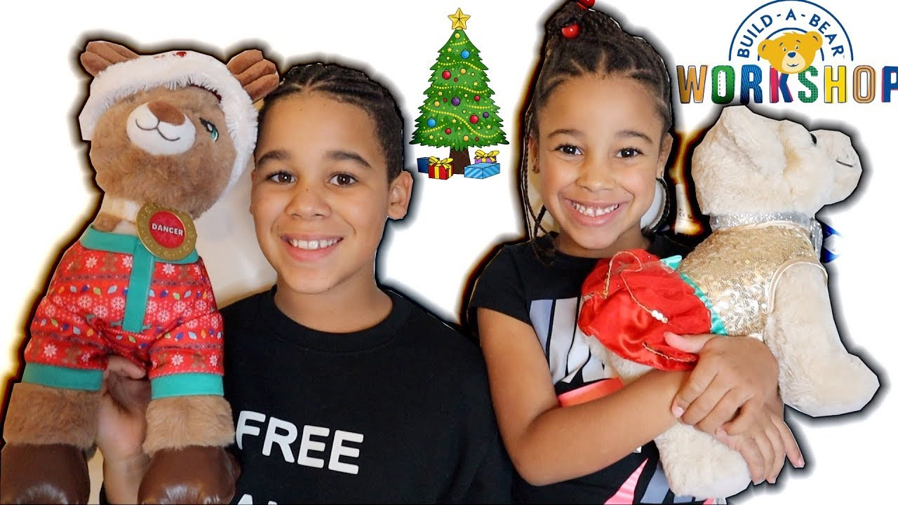 FamousTubeKIDS Christmas BUILD-A-BEAR