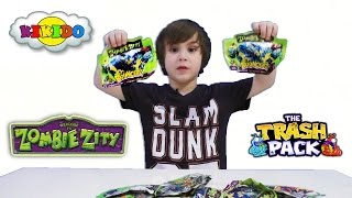 Іграшки Zombie Zity. Монстри на колесах. Розпакування. Огляд. Відео для дітей. Кикидо