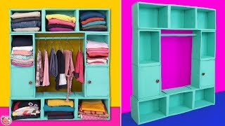 DIY Clothes Cabinet !!! Best Out of Waste Oil Container !!!