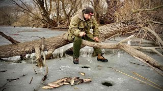 КАРАСЬ в лютом коряжнике Ловля прямо в дереве my fishing Kruchkoff