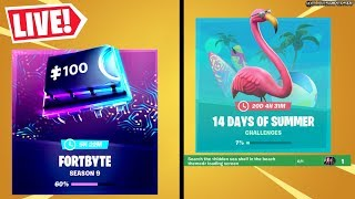 🔴 *NEW* 14 DAYS OF SUMMER DAY 13 SPARKLES TRACK REWARD, FORTBYTE UNLOCKS (FORTNITE LIVE)