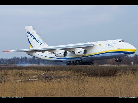 Antonov An-124 100M Ruslan Bratislava airport 4K!!