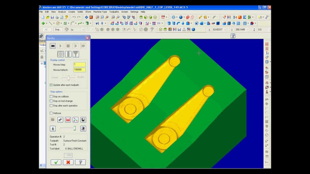 Mastercam Restmill with STL file wmv by Millwright chennai