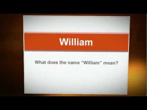 What Does My Name Mean? - William