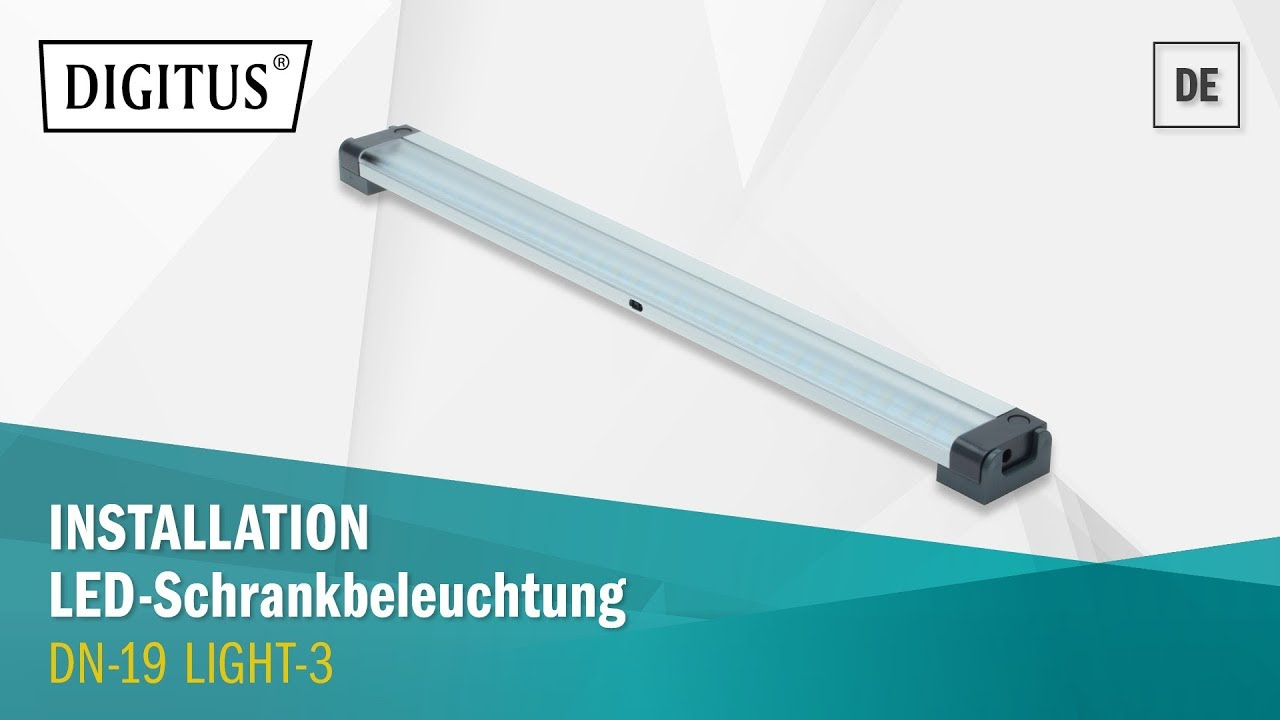 Digitus Led Schrankbeleuchtung Dn 19 Light 3 Youtube