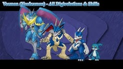 Digimon Masters Online: Veemon (Veedramon) - All Digivolutions & Skills