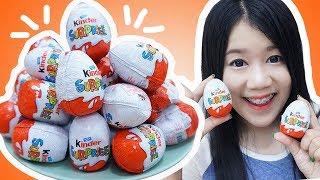 แกะไข่เซอร์ไพรส์ คินเดอร์ จากต่างประเทศ 40 ใบ มีอะไรบ้างมาลุ้นกัน !! 【 40 Kinder surprise egg 】
