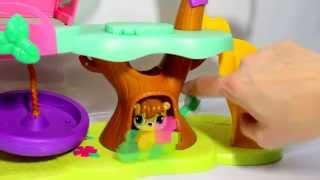 Играем вместе. Дом на дереве и ходячая зверушка. Littlest Pet Shop Magic Motion Tree House.(Маленький зоомагазин. Все зверюшки яркие, стильные, очаровательные, милые, с трогательными большущими глаз..., 2015-02-03T20:50:03.000Z)