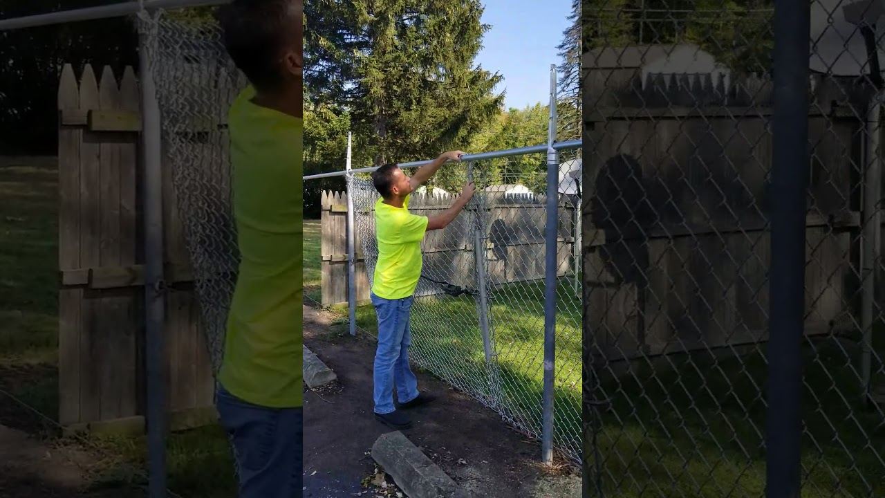 How To Stretch Chain Link Fence Installing Chain Link