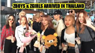 ZSTARS ARRIVED AT THAILAND AIRPORT, WITH MOMENTS ( Zboys,Zgirls,Zpop)