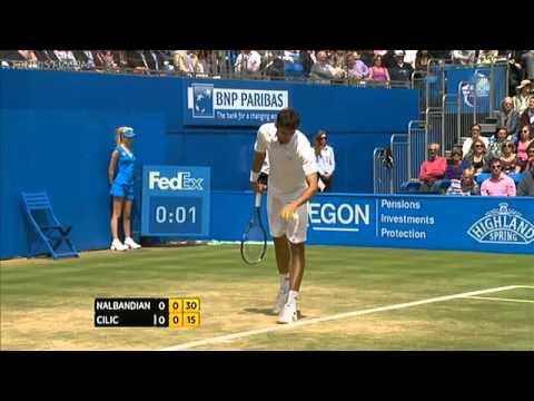 ATP 2012 Queens Final Nalbandian vs Cilic ENG