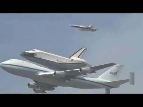 Space Shuttle Enterprise Flyover over New York City (1 of ... |Space Shuttle Flyover