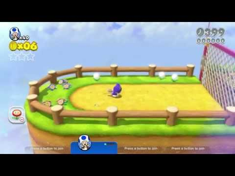 Super Mario 3D World: 3-2 Chain Link Charge (All Stars & Stamp) [Gameplay Walkthrough] No Commentary