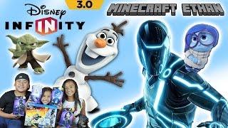 Disney Infinity 3.0 Unboxing, Introduction & Gameplay w/ Minecraft Ethan, Emma & Aubrey