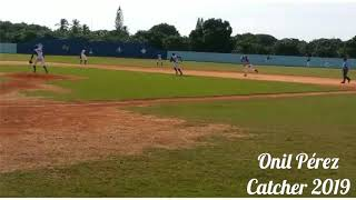 Onil Perez Catcher 2019 Vs Pitcher 90 MPH
