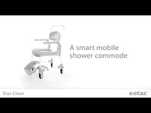 etac clean shower chair youtube