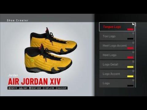 e7dd0131562 Reverse Ferrari Jordan 14 for NBA 2K19 - YouTube