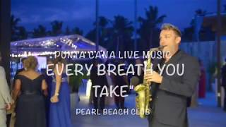 Pearl Beach Club Wedding, saxophone player