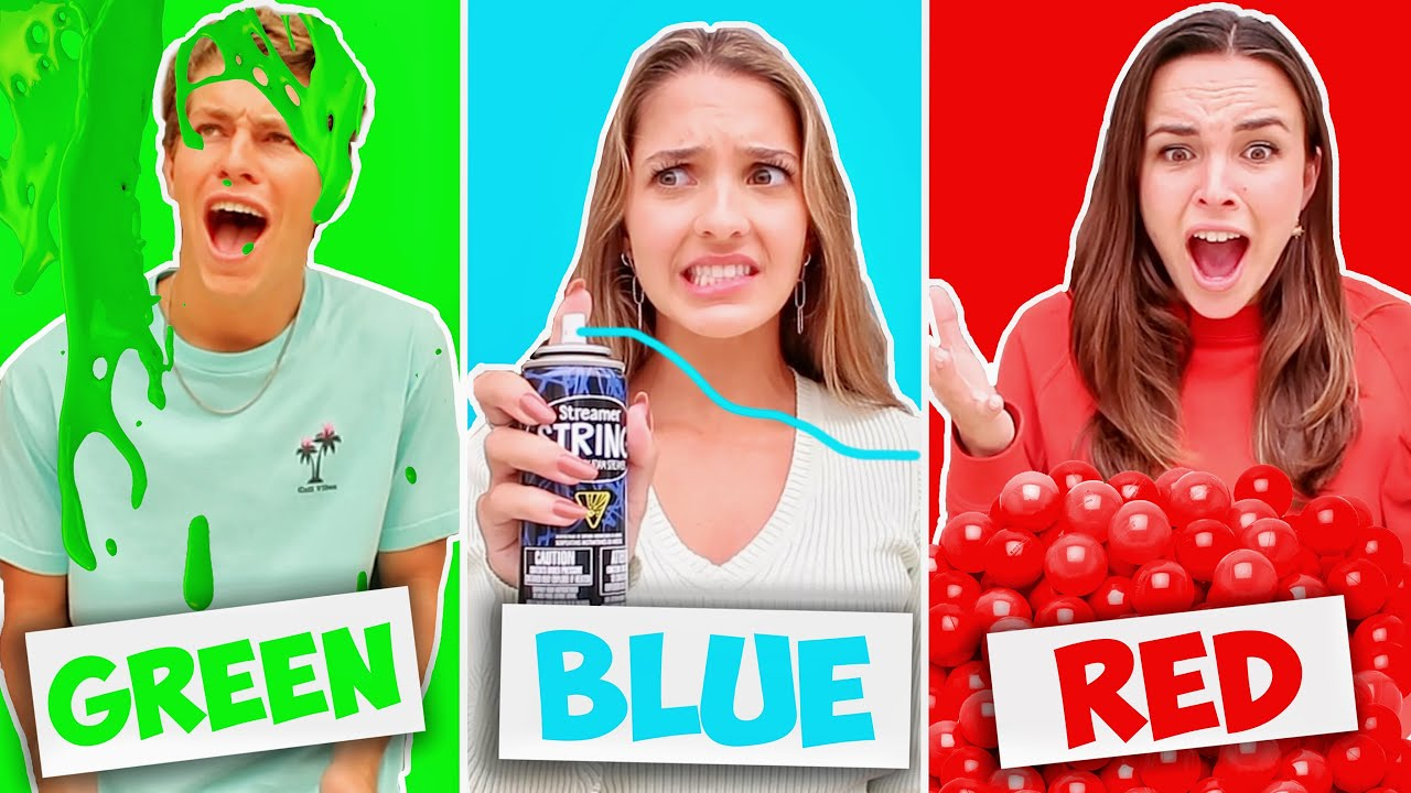 USING ONLY ONE COLOR TO PRANK BRENT!!