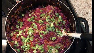 ONE POT SUPER CHEAP VEGETABLE STIR FRY RECIPE   ANNA MARIE EATS