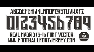 REAL MADRID 2015 2016 FONT TTF AND VECTOR DOWNLOAD