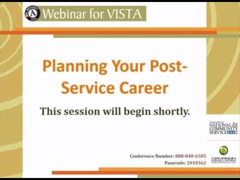 Planning Your Post VISTA Career