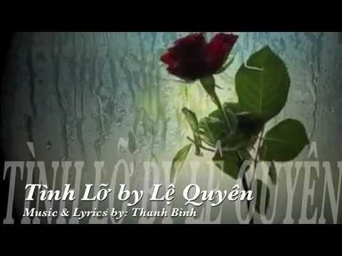Tình Lỡ onscreen lyrics by Lệ Quyên   YouTube