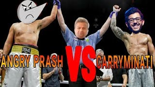 Angry Prash VS Carryminati  mix masala funny video HINDI