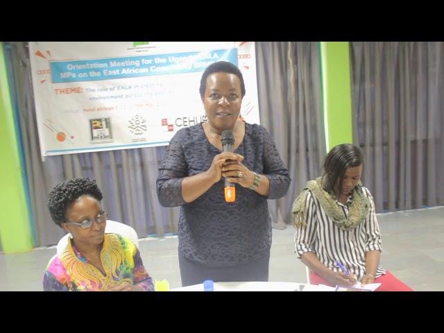 Ugandan EALA Members Oriented on the East African Community SRHR Bill