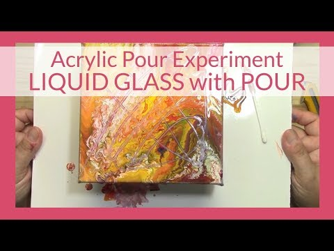 Acrylic Pouring Experiment #7 - Liquid Glass on top of a Wet Pour Looks like a Virus Worm
