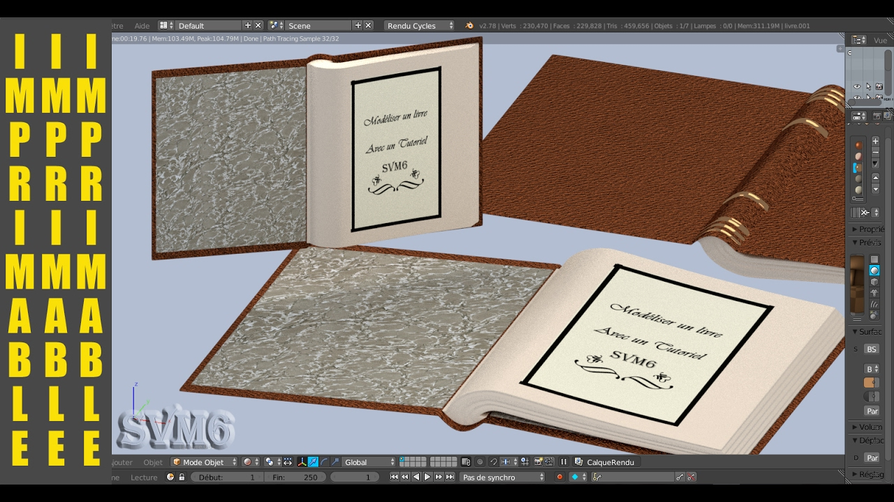Modeliser Un Livre Imprimable Blender 3d Tutoriel Francais Svm6 N 1