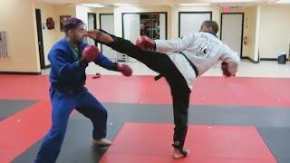 FAZE SENSEI (Karate) Sparring OVERTFLOW (BJJ)