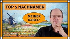 Die häufigsten niederländischen Nachnamen