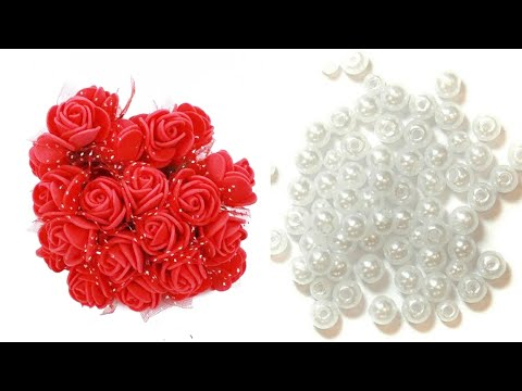 how to make rakhi at home |rakhi making ideas 2019 | pearl and foam flower rakhi |lumka/couple Rakhi