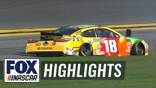 Kyle Busch crashes early after tire failure | 2018 DAYTONA 500 | FOX NASCAR