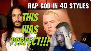 Eminem  Rap God | Performed In 40 Styles | Ten Second Songs [REACTION!!!] This Guy Is So Talented!