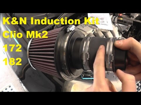 K&N Induction Kit Fitting Guide Clio Mk2 172 182