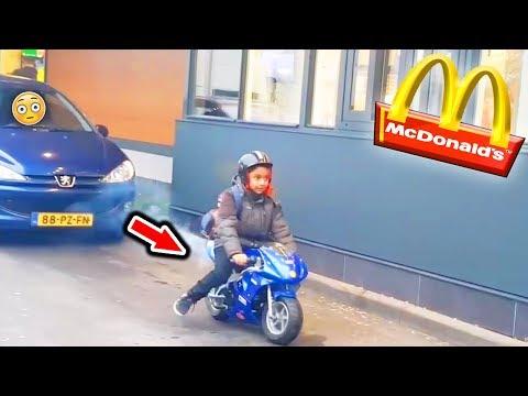 McDonalds PRANK   KLEINES KIND FÄHRT MOTORRAD   FLEX IT
