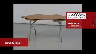 Serpentine Plywood Folding Tables