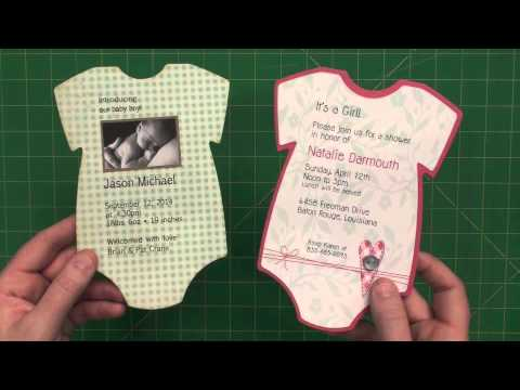 5 x 7 baby onesie invite or announcement youtube
