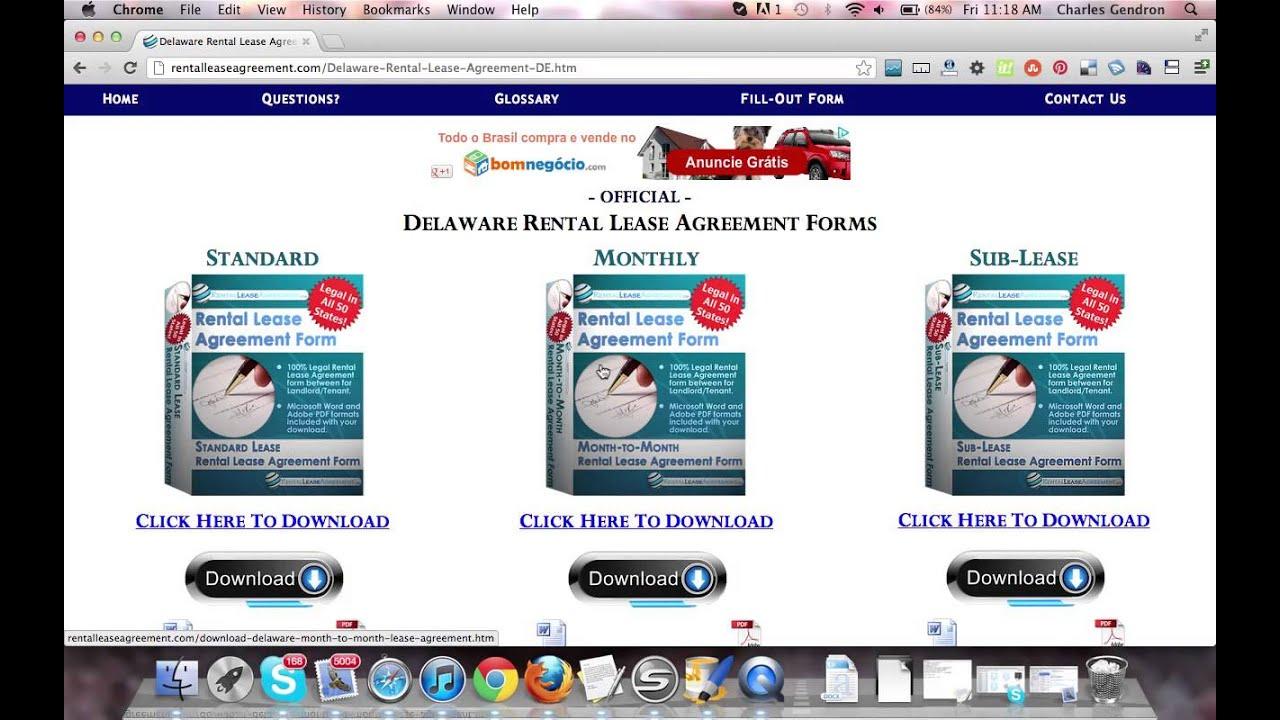 Delaware Rental Agreement Youtube
