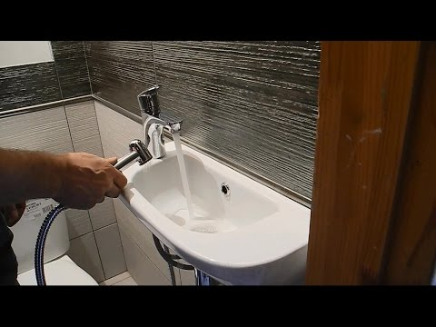 Умывальник-биде в туалете ч.3