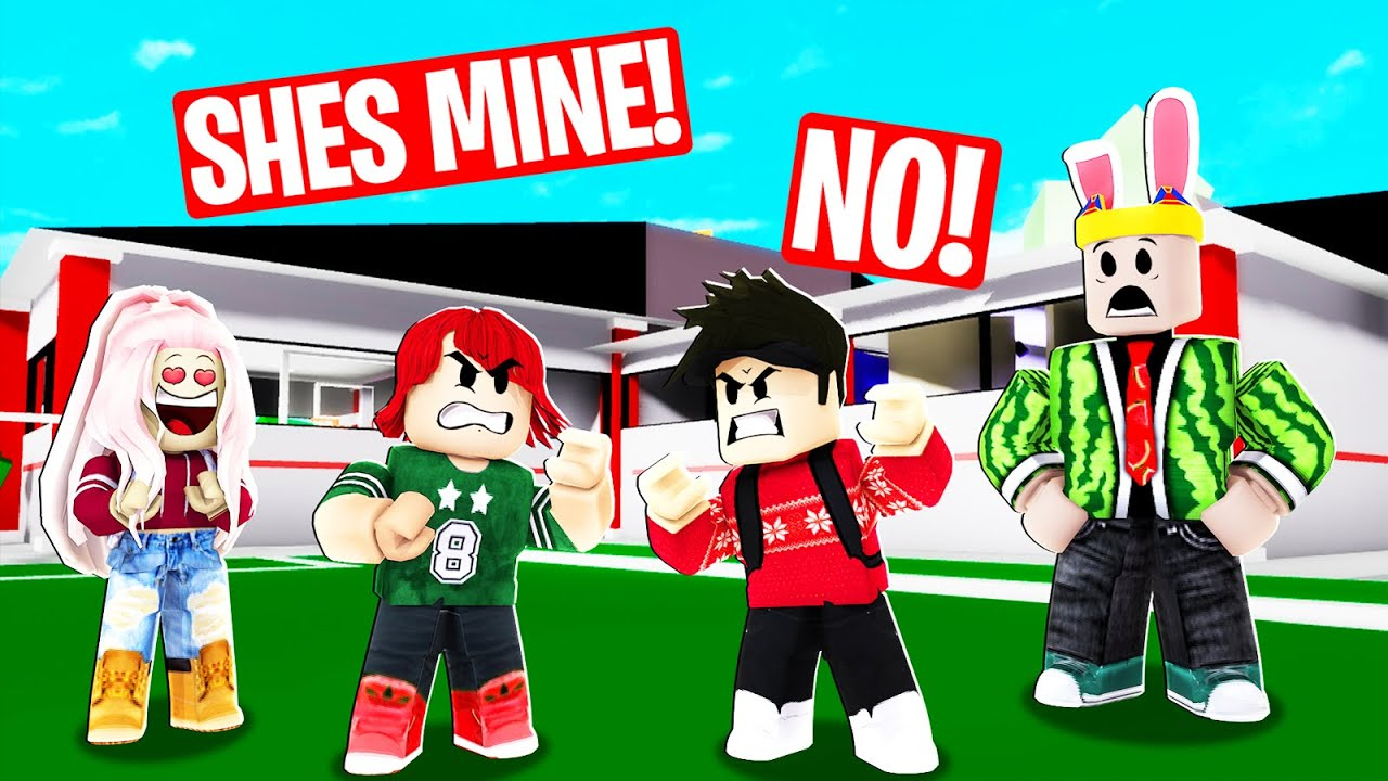 I caught 2 boys FIGHTING over a GIRL….(Roblox Brookhaven)
