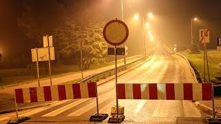 Zamkni�cie nowego mostu w Ostro��ce
