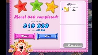 Candy Crush Saga Level 843     ★★★   NO BOOSTER