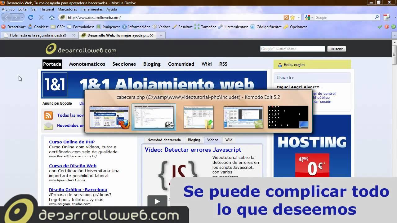 Includes en PHP y creación de plantillas en PHP - YouTube