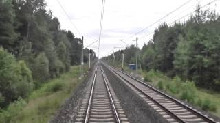Odcinek CMK Zawiercie - Idzikowice z tyłu pociągu EIC Ondraszek