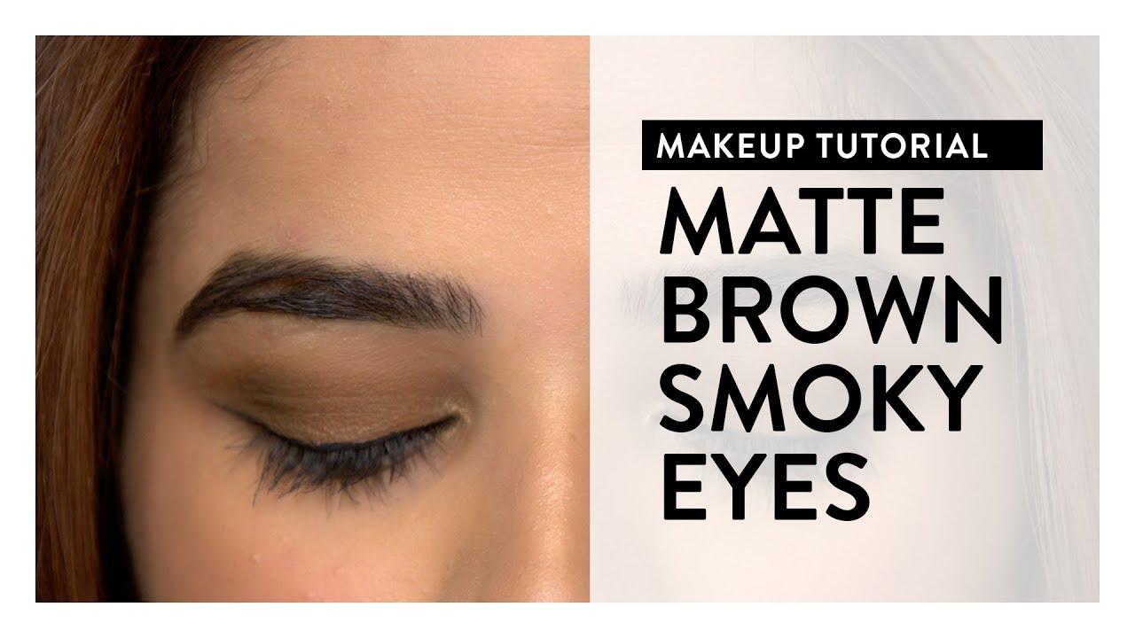 Makeup Tutorial l Matte Brown Smokey Eyes